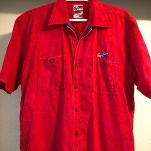 Pepe Jeans London RED short sleeve button shirt
